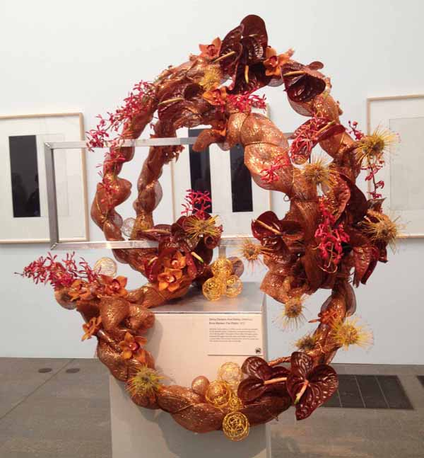Floral Designer: DeVoy Designs. Art Piece: Brice Marden, Five Plates
