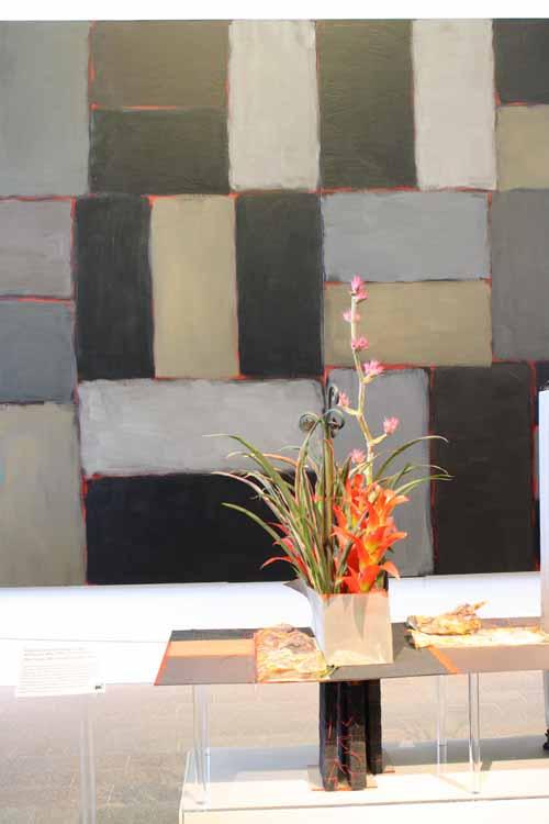 Floral Designer: Regula's European Design. Art Piece: Sean Scully, Wall of Light Horizon