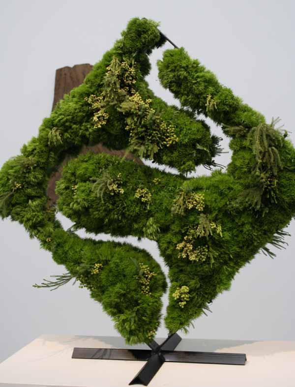Floral Designer: Donnel Vicente Designs. Art Piece: Robert Rauschenberg, Realm