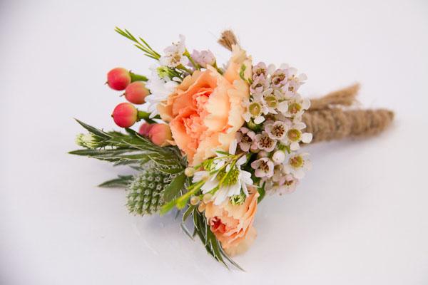 peach carnation boutonniere