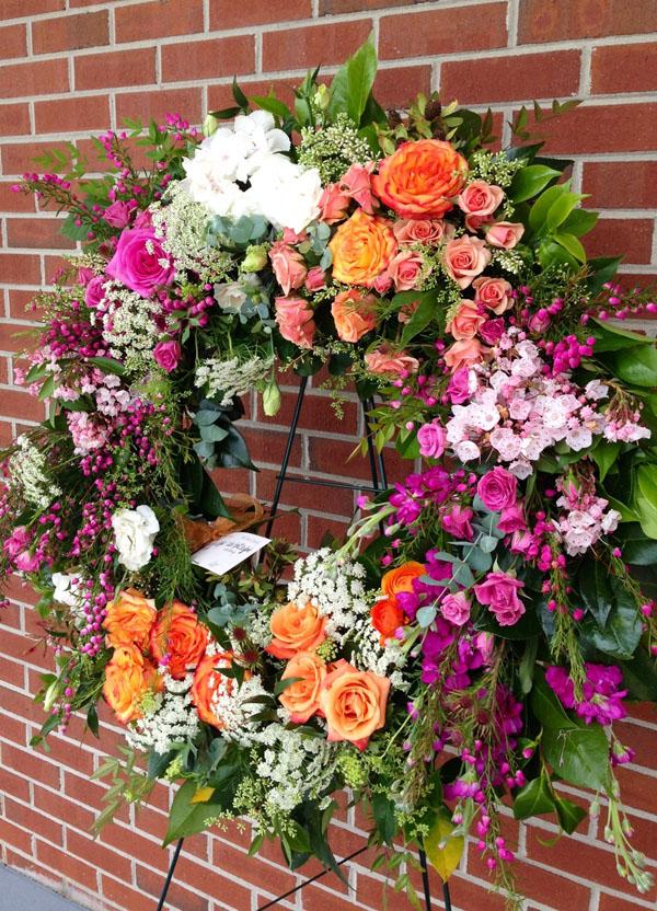 flower sympathy wreath