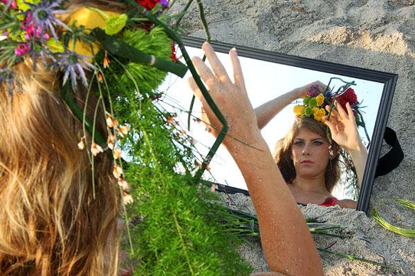 create a floral headdress