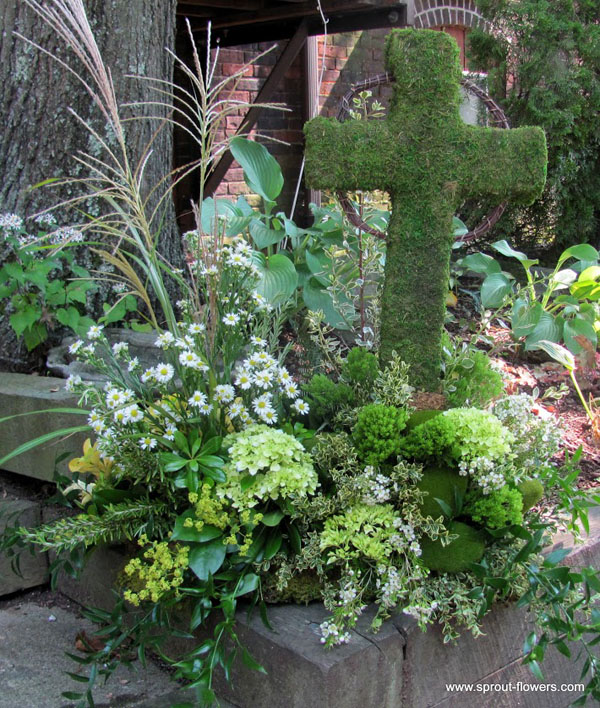 memorial flower design