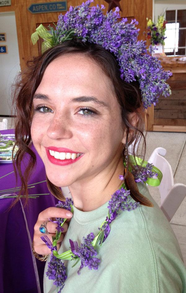 wearing Lavender