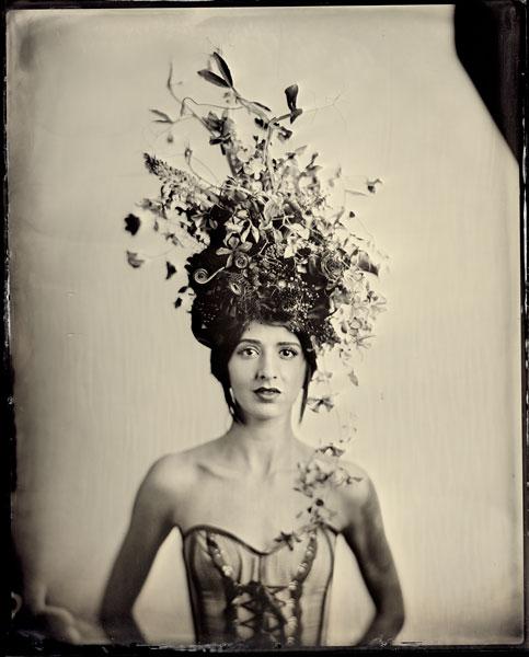 floral headdress