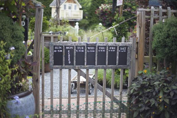entrance to garden shop