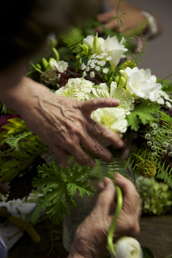 designing a bridal bouquet