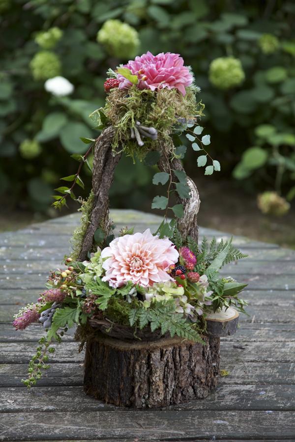 woodland flower arrangement