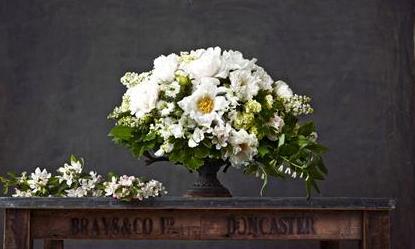 lush white flower arrangement