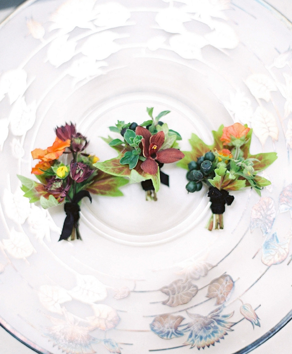 flowery boutonnieres