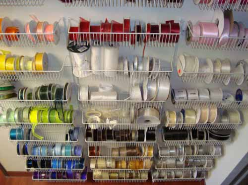 racks filled with ribbon