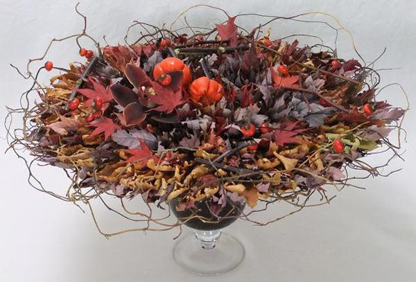 european style fall flower centerpiece