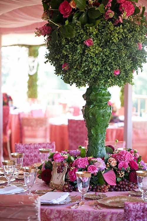 elevated and detailed flower centerpiece