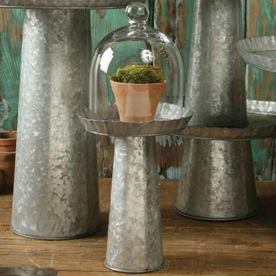 galvanized metal stands