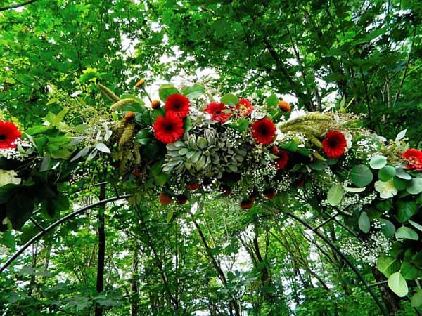 flower arch garland