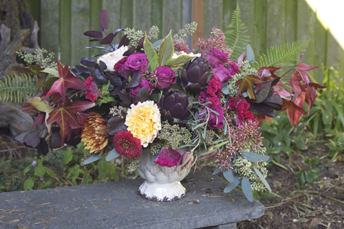 magenta fall color palette