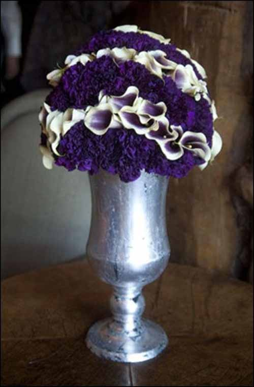 purple and picasso calla contemporary arrangement