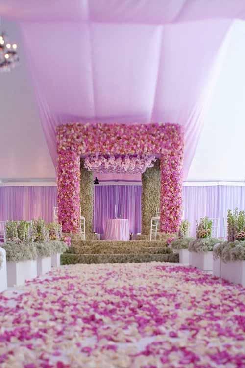 Lavender flower ceremony site