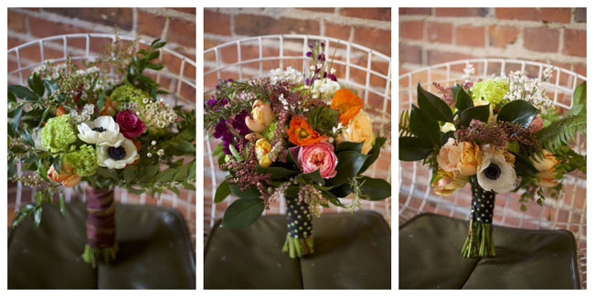 Bridal Bouquets from the Flirty Fleurs Workshop