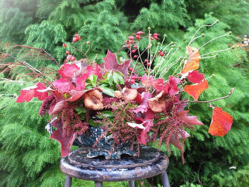 fall foliage centerpiece