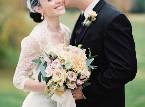pieris japonica blush bridal bouquet
