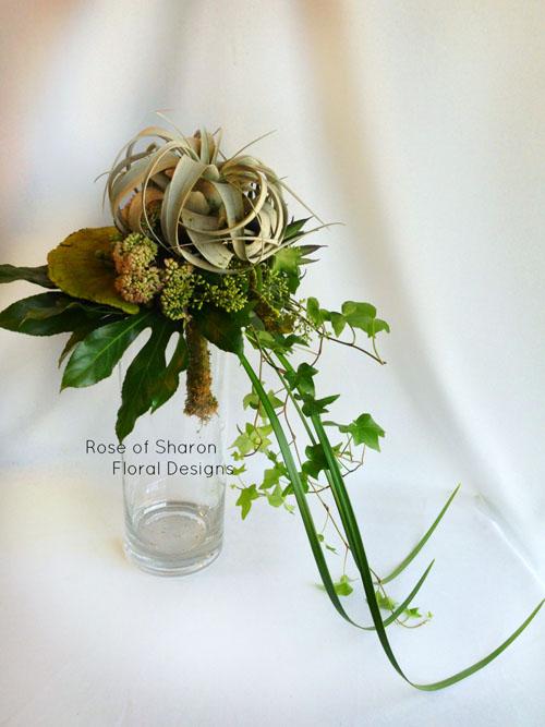 cascading succulent bridal bouquet