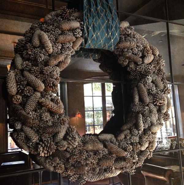 pine cone holiday wreath