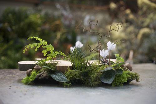 woodland floral design centerpiece