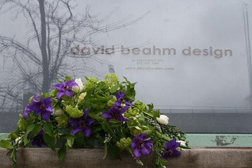 3/19 - My bouquet in front of David Beahm's Studio in New York City