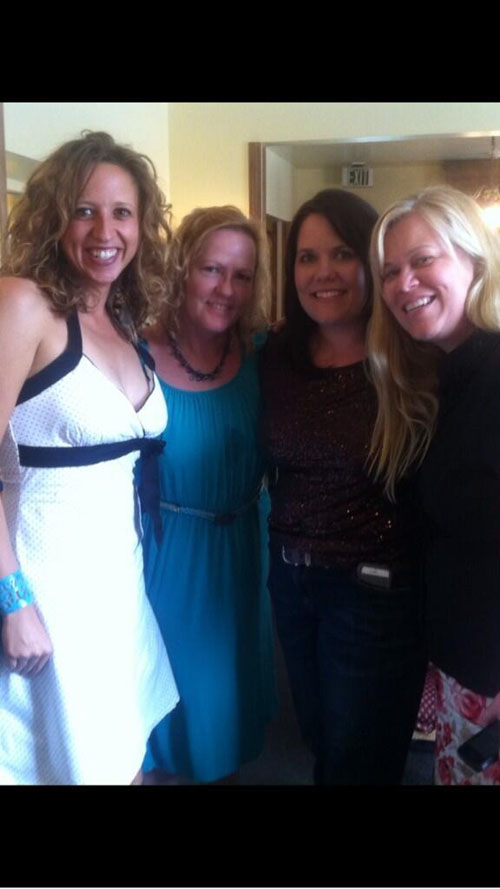 Robyn of Bare Root Flora, Crystal, Amy of The Flower House and Alicia Schwede