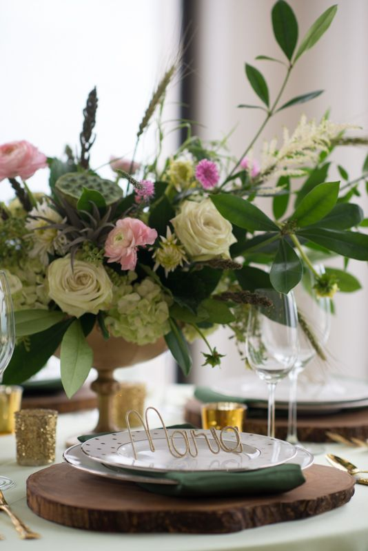 Maxit Flower Design, Joseph West Photography, Pink and White Flowers in a Gold Urn