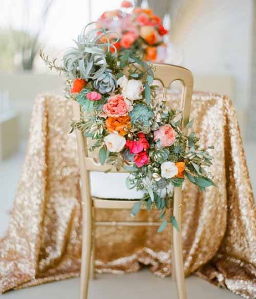 Julep Custom Floral, Groom and Bride Reception chair backs