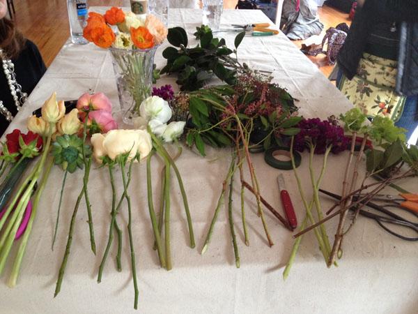 Alicia Schwede's Floral design Workshop in Seattle