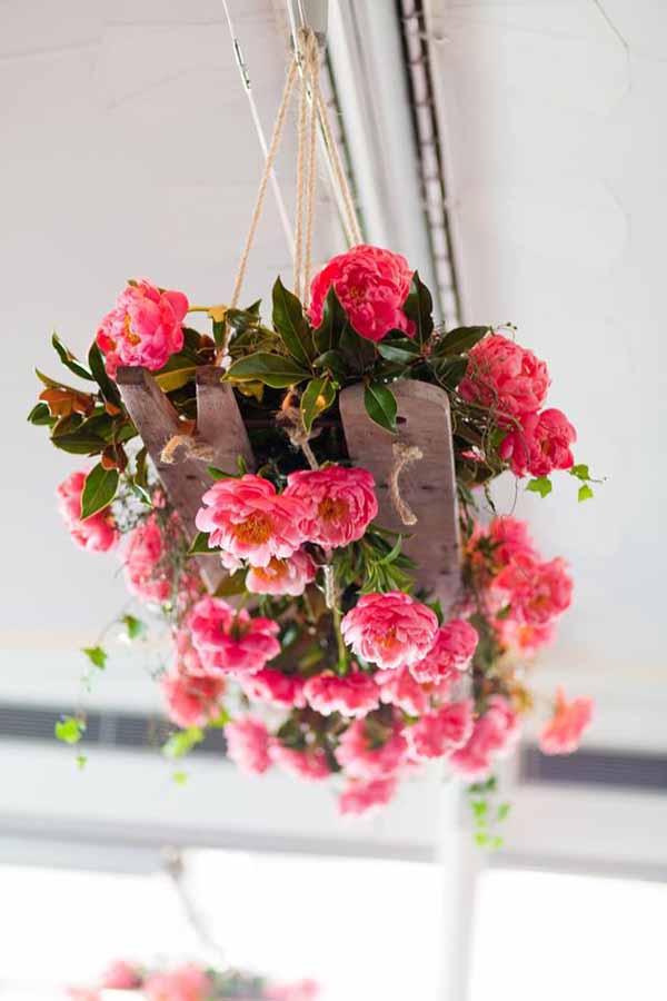 Mondo Floral Designs, Floral Chandelier of Coral Charm Peonies