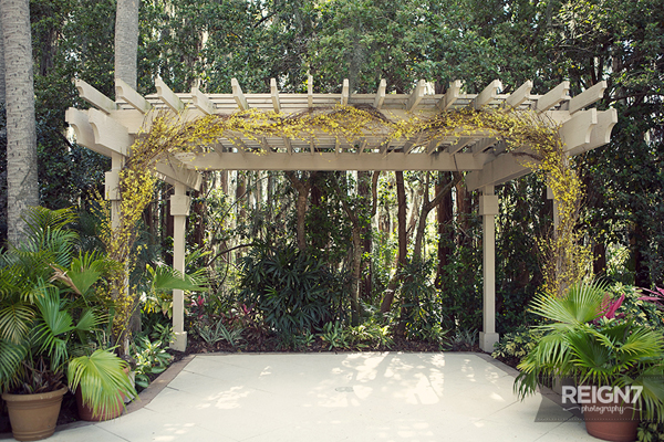 Andrea Layne Floral Design, wedding ceremony arch decorated with forsythia branches