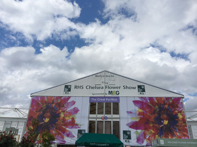 Entrance to RHS Chelsea Flower Show
