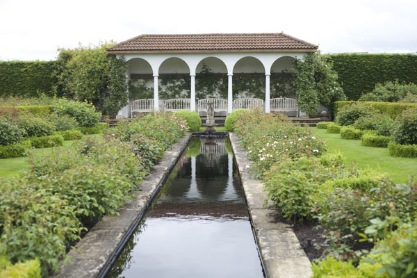 Beautiful Garden space seen at David Austin Rose Gardens, England