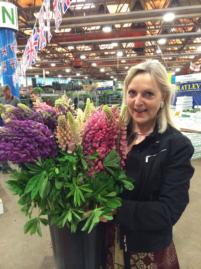 New Covent Garden Market, London - Paula Pryke and Lupines