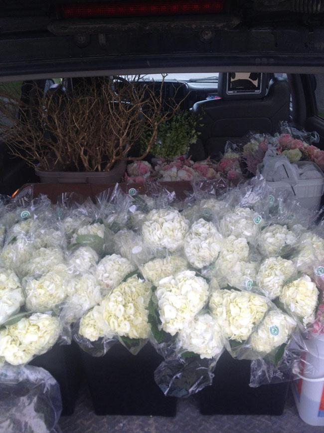 Dana Smyl Event Florist - Transporting Flowers