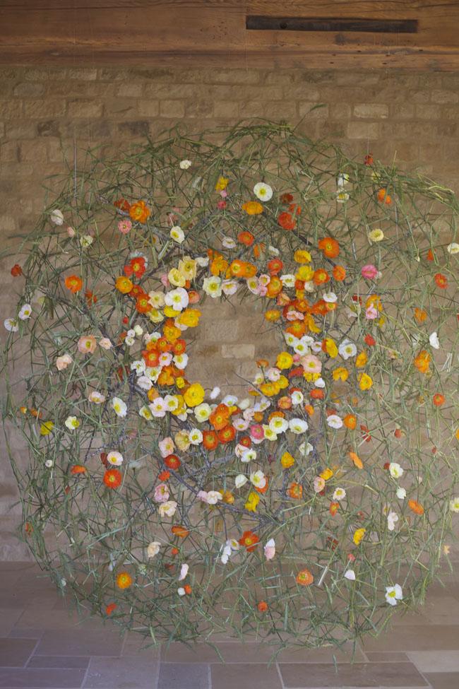 Florabundance Design Days & Chapel Designers Conference - Joseph Massie's art installation with poppies