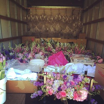 Sherwood Design and Events - Transporting Flowers