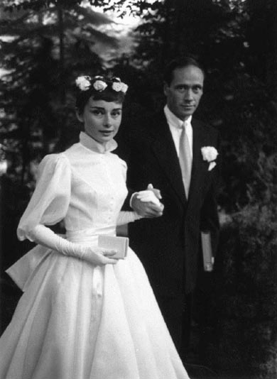 Audrey Hepburn de la boda 1954