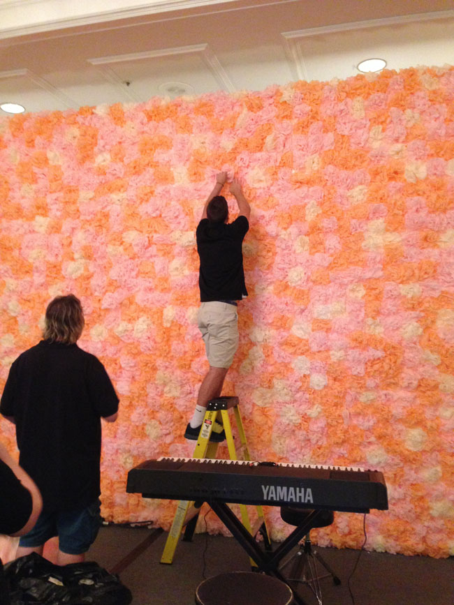 Bergeron's Flowers - Flower Wall