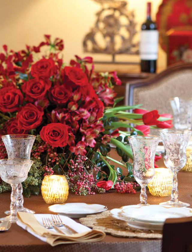 Flowers with Southern Lady - Red Christmas Florals