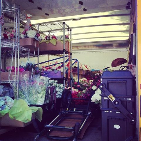 Victoria Clausen Floral Design - transporting flowers