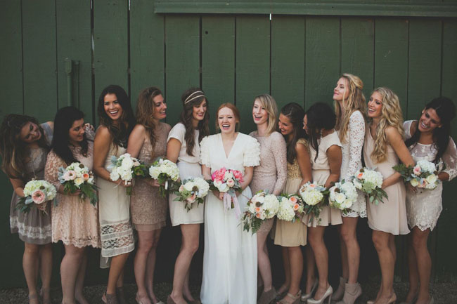 Jenn Sanchez large wedding party