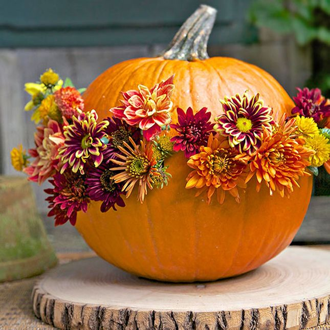 Pumpkin with Flowers from Better Homes and Gardens