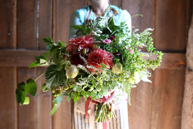village green florist - garden bouquet