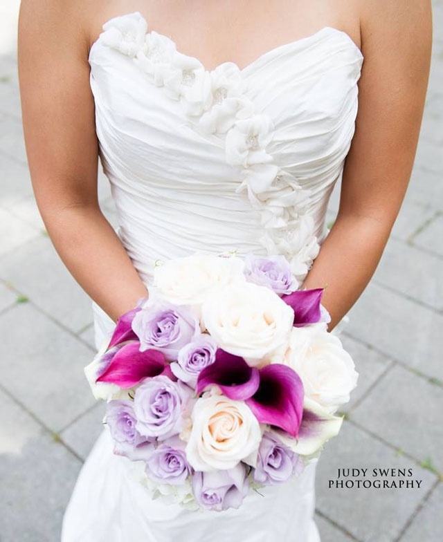Budget Blooms, Vancouver - pink and cream rose bouquet with calla lilies