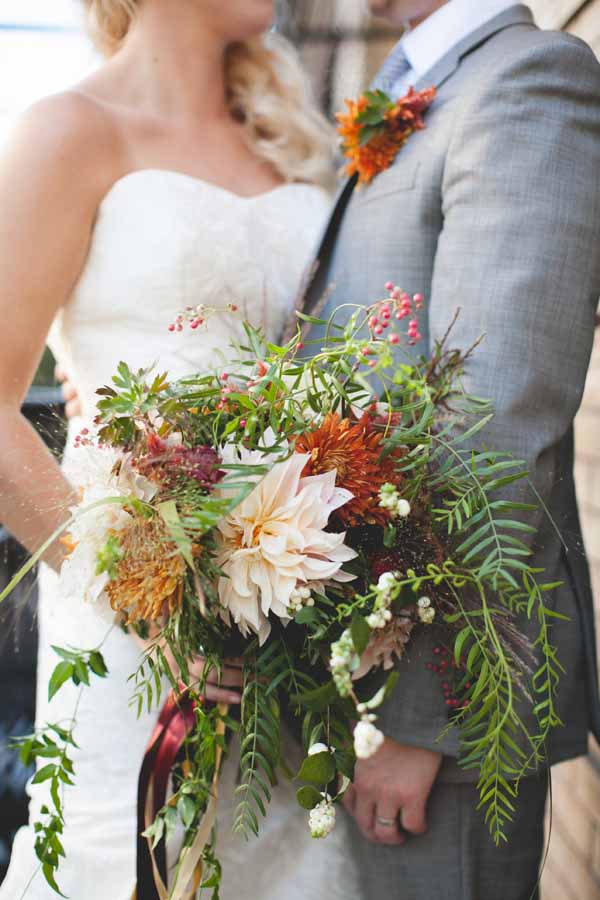 Bash and Bloom - berries and dahlias bouquet
